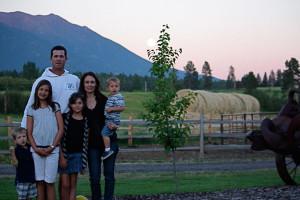 Family at Glacier Park Vacation Rentals.