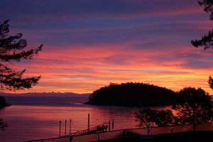 Sunset at Mayne Island Resort and Spa.