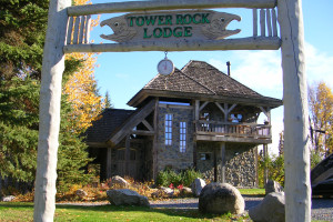 Exterior view of Tower Rock Lodge.