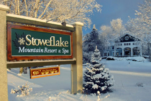Winter exterior at Stoweflake Mountain Resort & Spa.