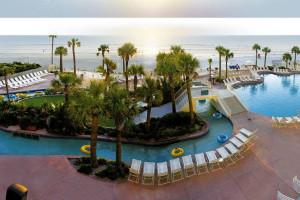 Outdoor pool at Wyndham Ocean Walk Resort.