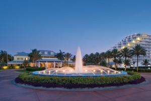Fountain at Our Lucaya Beach & Golf Resort.
