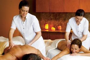 Couple's massage at Mayne Island Resort and Spa.