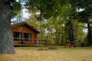 Cabin at Wolf's Eagle Lodge Resort & Campground.