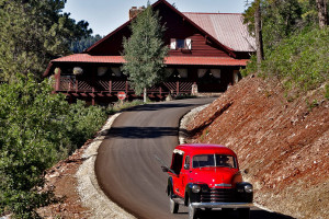 Lodge exterior at Colorado Trails Ranch.