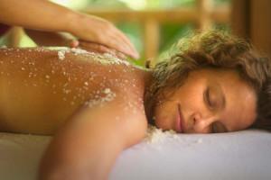 Back massage at Eganridge Resort, Country Club & Spa.