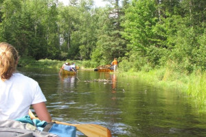 Canoeing activities at Moose Track Adventures Resort.