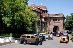 Exterior view of Ajit Bhawan.
