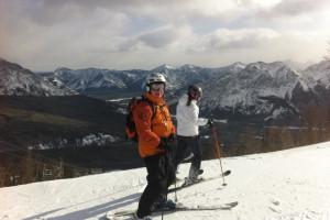 Skiing at Banff Rocky Mountain Resort.
