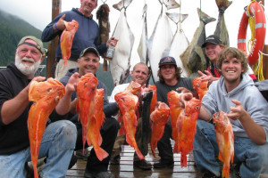 Fishing group at Nootka Marine Adventures.