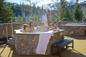 Hot tub at Beaver Run Resort.