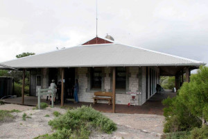 Exterior view of Eyre Bird Observatory.