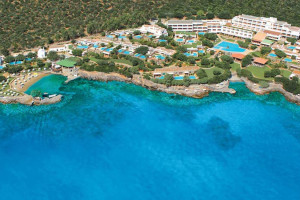 Aerial view of Elounda Mare Hotel.