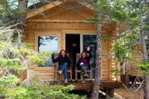Cabin deck at Kenai Fjords Glacier Lodge.