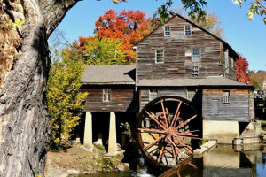 Old Mill near Alpine Mountain Chalets.