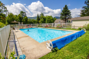 Rental outdoor pool at The Killington Group.