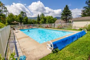 Rental outdoor pool at The Killington Group.