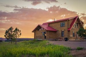 Cabin exterior at Zion Mountain Ranch.