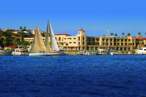 Exterior view of The Balboa Bay Club & Resort.