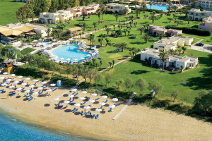 Aerial view of Grecotel Lakopetra Beach.