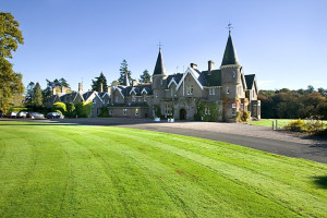 Exterior view of Ballathie House Hotel.