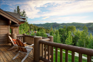 Vacation rental deck at SkyRun Vacation Rentals - Park City, Utah.