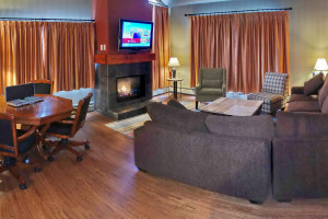 Condo interior at Inns of Banff.