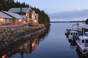 Exterior view of Shearwater Resort & Marina.