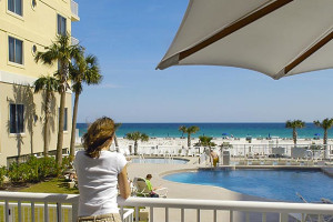 Outdoor pool at SpringHill Suites Pensacola Beach-Marriott.