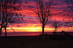 Sunrise at Hampton Inn Duluth.