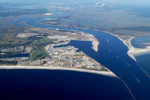 Aerial view of island at Amelia Island Rentals, Inc.