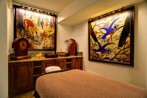 Spa massage room at Kessler Canyon