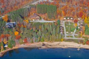 Aerial view of Sandy Lane Resort.