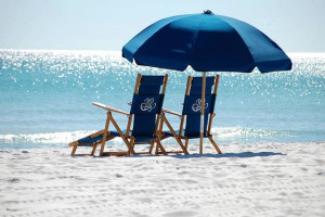 Relaxing by the beach at Brooks and Shorey Resorts, Inc.