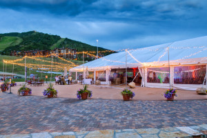 Wedding tent at Torian Plum Resort.