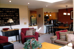 Vacation rental interior at Highridge Condominiums.