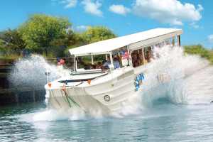 Ride the Duck Tours near Castle Rock Resort and Waterpark.