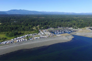 Aerial view of Salmon Point Resort RV Park & Marina.