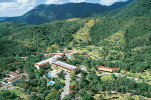 Aerial view of Resort and Spa Plaza Caldas da Imperatriz.