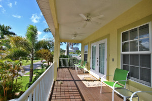 Rental patio at Tripower Vacation Rentals.