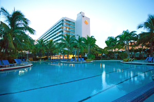 Outdoor pool at Crowne Plaza Hollywood Beach Resort.