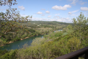 River view at  Arkansas White River Cabins.