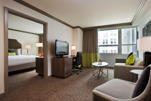 Guest suite at InterContinental Chicago.