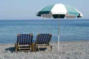 The beach at Seabreeze Bed & Breakfast Inn.