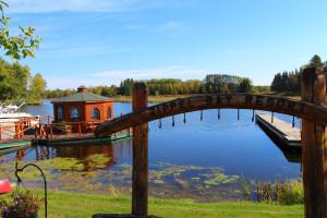 Lake view at Zippel Bay Resort.