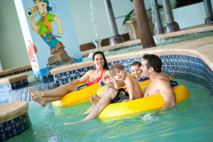 Lazy river at Caribbean Resort & Villas.