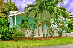 Cottage exterior at River Palm Cottages.