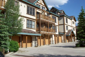 Vacation rental exterior at Breckenridge Central Lodging.
