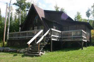 Cabin exterior at Custom Cabin Rentals.