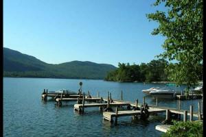 Docks at Northern Lake George Resort.